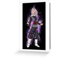 black goku super saiyan rose Greeting Card