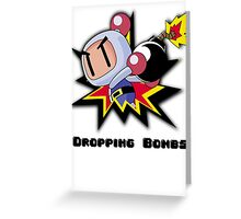 Dropping Bombs Greeting Card