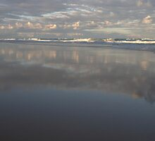 Peregian Beach reflections by Morag Anderson