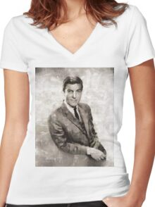 Dick Van Dyke, Actor Women's Fitted V-Neck T-Shirt