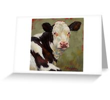 A Calf Named Ivory Greeting Card