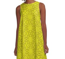 "503. ""Spirit of India: Fleur-Sun"" in golden yellow A-Line Dress"