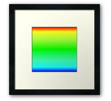 Color Gradient - Blue   Cyan   Green   Yellow   Red Framed Print
