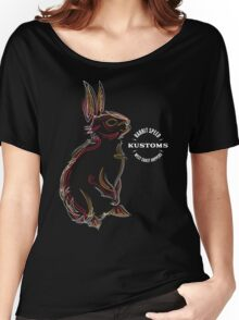 Rabbit Speed Pinstripe Bunny Two Women's Relaxed Fit T-Shirt