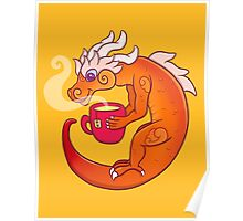 Beverage Cloud Serpent  Orange Poster