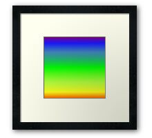 Color Gradient - Orange | Yellow | Green | Blue | Purple Framed Print