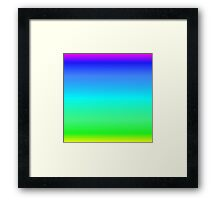 Color Gradient - Yellow | Green | Cyan | Blue | Purple Framed Print