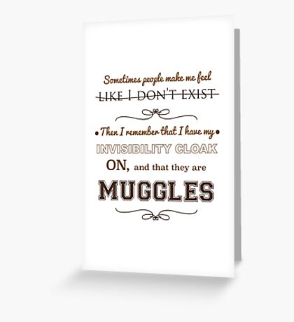 MUGGLES Greeting Card