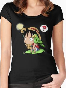 Chibi Luffy Women's Fitted Scoop T-Shirt