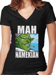 Mah Namekian Women's Fitted V-Neck T-Shirt