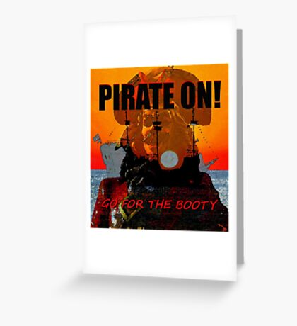 Pirate On Greeting Card