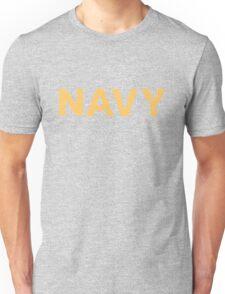 Navy Proud yellow distressed Unisex T-Shirt