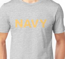 Navy Proud yellow distressed Unisex T-Shirt