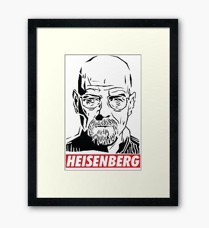 Breaking Bad: Heisenberg - Obey style Framed Print