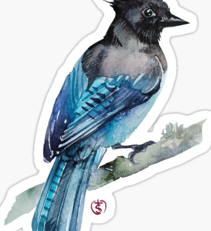 Black Jay Sticker