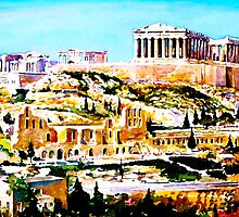 Parthenon by painting-greece