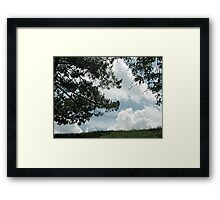 When Marshmellow Clouds Decided to Touch the Earth Framed Print