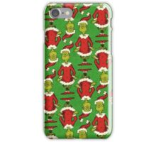 green The-Grinch Christmas pattern iPhone Case/Skin