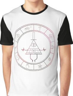 gravity falls- bill cipher wheel space Graphic T-Shirt