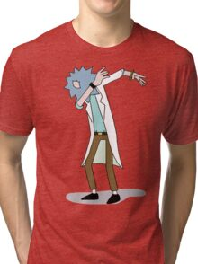 Wubba Lubba Dab Dab Rick No Background Tri-blend T-Shirt
