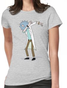 Wubba Lubba Dab Dab Rick No Background Womens Fitted T-Shirt