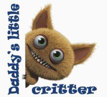 Daddy's Little Critter (Blue) One Piece - Short Sleeve