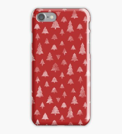 CHRISTMAS TREE RED PATTERN iPhone Case/Skin