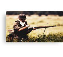 Soldier in war Canvas Print