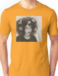 flower hair girl Unisex T-Shirt