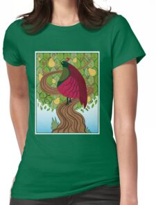Partridge In A Pear Tree Womens Fitted T-Shirt