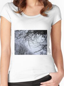tree roof Women's Fitted Scoop T-Shirt