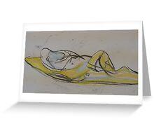 nude reclining Greeting Card