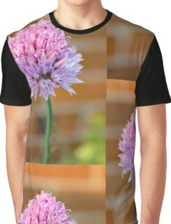 Pink and Lilac Chive Graphic T-Shirt