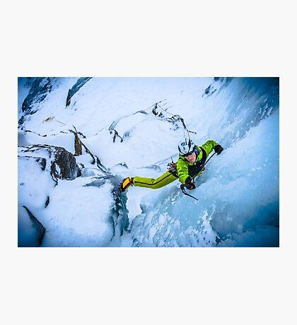 Cryotherapy Ice Climbing Photographic Print