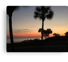 beachy waves at sunset Canvas Print
