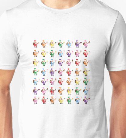 Rainbow Pixel Santa! Unisex T-Shirt