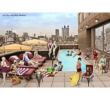 Art Deco Rooftop Chillout Photographic Print