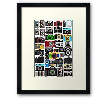 Pixelated Camerass Framed Print