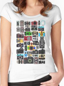 Pixelated Camerass Women's Fitted Scoop T-Shirt