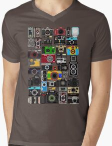 Pixelated Camerass Mens V-Neck T-Shirt