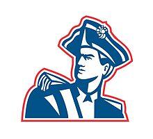 American Patriot Soldier Bust Retro by patrimonio