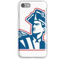 American Patriot Soldier Bust Retro iPhone Case/Skin