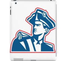 American Patriot Soldier Bust Retro iPad Case/Skin