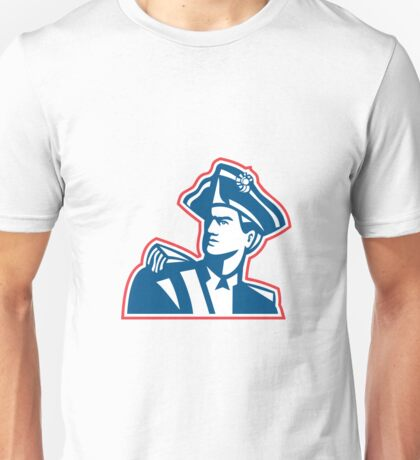 American Patriot Soldier Bust Retro Unisex T-Shirt