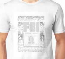 X-Files Quotes - Dana Scully Unisex T-Shirt