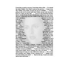 X-Files Quotes - Agent Dana Scully Photographic Print