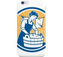 Housewife Washing Laundry Vintage Circle iPhone Case/Skin