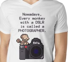 Every Monkey With A Camera Is Called a Photographer Mens V-Neck T-Shirt