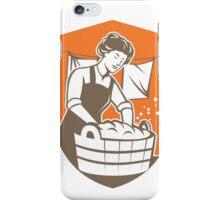 Housewife Washing Laundry Vintage Retro iPhone Case/Skin