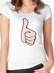 thumb up pouce en l'air super Women's Fitted Scoop T-Shirt